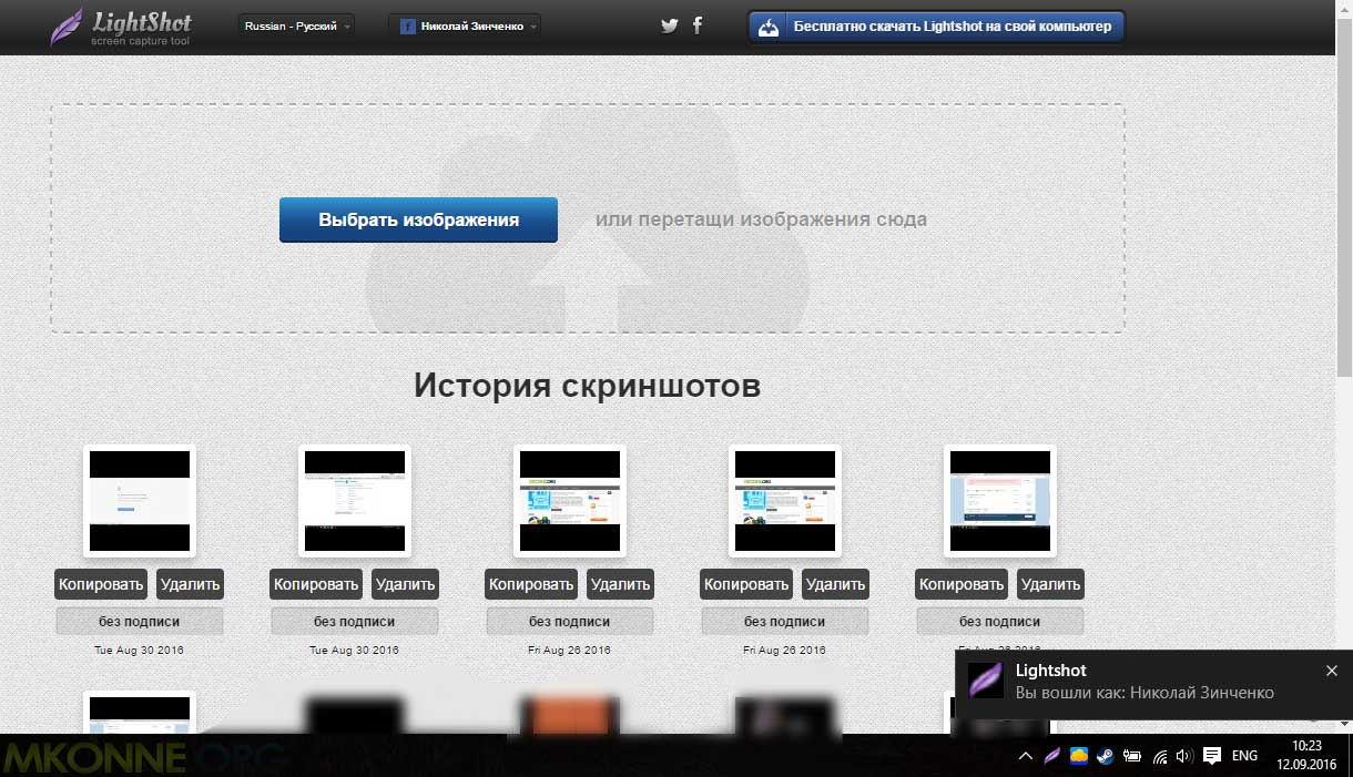 Программа для скриншотов Lightshot
