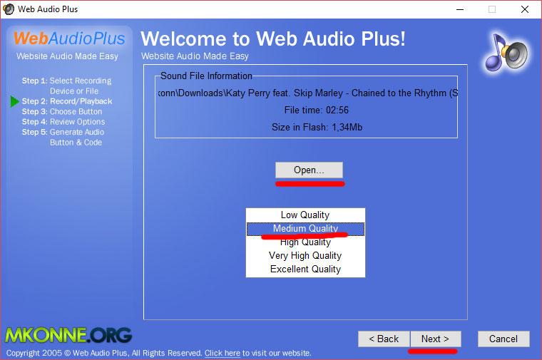 Как вставить аудио на сайт с помощью Web Audio Plus.