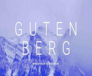Добро пожаловать в редактор Gutenberg